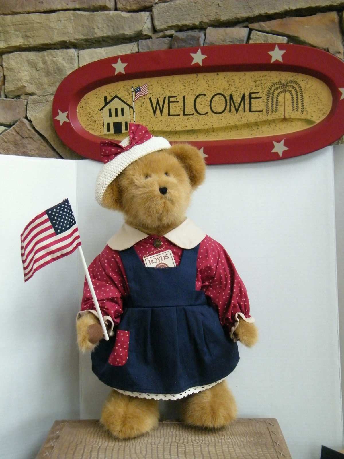 "Boyds Bears ""BAILEY""  20"" Americana Event Exclusive - #50010- NWT- 2003 -Retired"