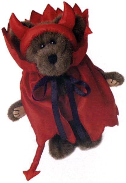 "Boyds Bear ""Conner D. Devilbear""-  10"" Plush Bear- #919632- NWT- 2000-Retired"
