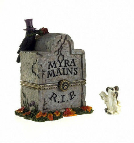 "Boyds Bearstone ""Myra's Tombstone w/Ghoulie McNibble""  #4028416- 1E- 2012"