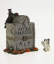 "Boyds Bearstone ""Myra's Tombstone w/Ghoulie McNibble""  #4028416- 1E- 2012 image 2"