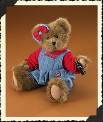 "Boyds Bear ""Kaylie"" 12"" Coca Cola -Licensed Bear - #919911 - NWT- 2005 - Retired image 2"