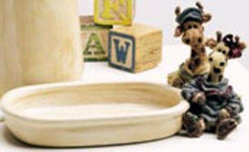 """Boyds Bear""""Stretch & Skye..Longnecker Soap Dish"""" Style #4005-Ceramic-NIB-Retired"""