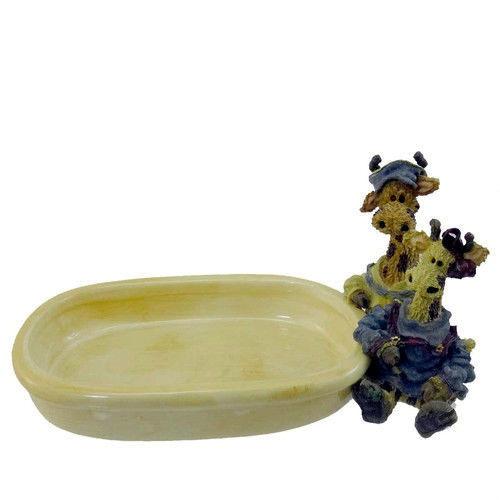 "Boyds Bear""Stretch & Skye..Longnecker Soap Dish"" Style #4005-Ceramic-NIB-Retired image 2"