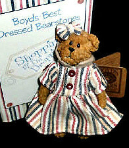 "Boyds Bearstone ""C.C. Shopsalot..Charge It!"" #02007-21 FoB Resin-NIB- Retired"