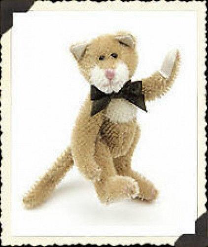 """Boyds Bear """"Lindbergh Cattington"""" #9199-18 - 4.5"""" Mini Mohair Cat 1999- New"""