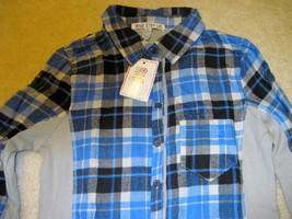 NWT ONE STEP UP Flannel Shirt Long Sleeve Plaid Red or Blue Junior Sizes image 3