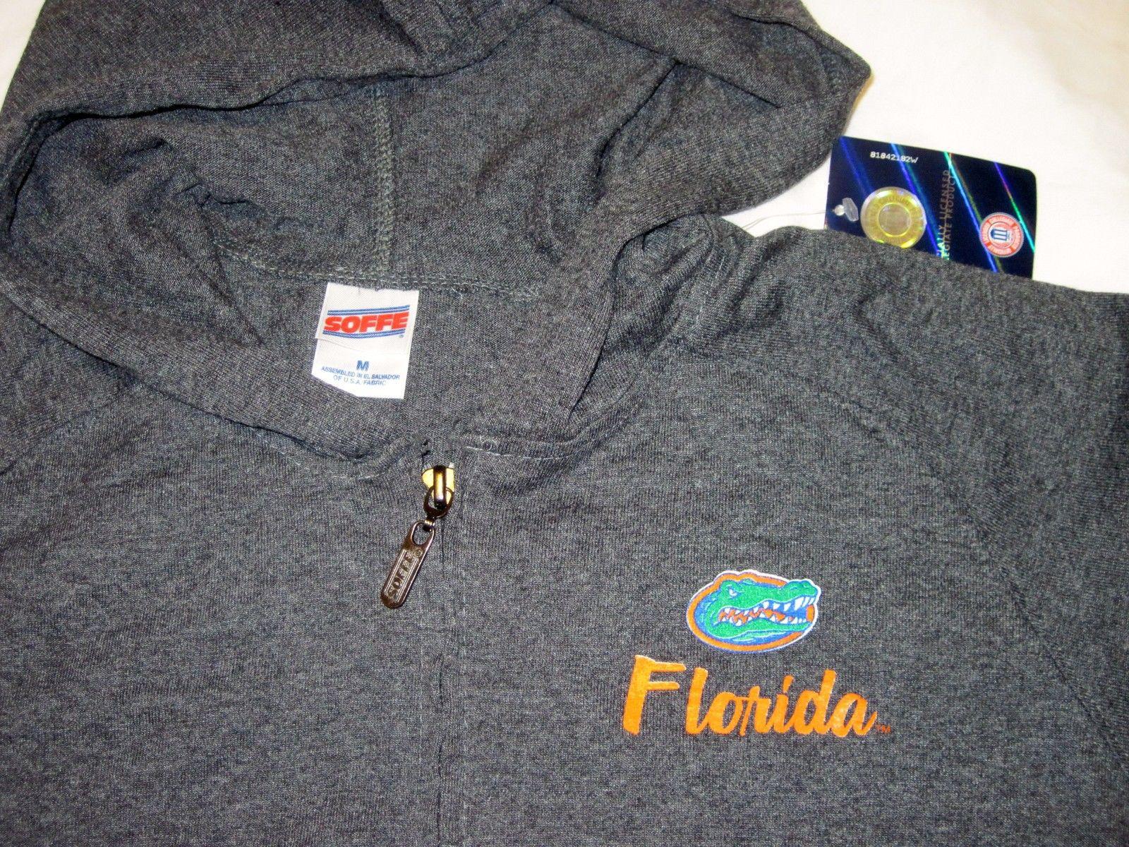 NWT University of Florida UF Gators Hoodie Zip Jacket Dark Gray Pockets by Soffe