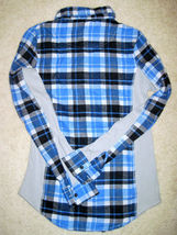 NWT ONE STEP UP Flannel Shirt Long Sleeve Plaid Red or Blue Junior Sizes image 5