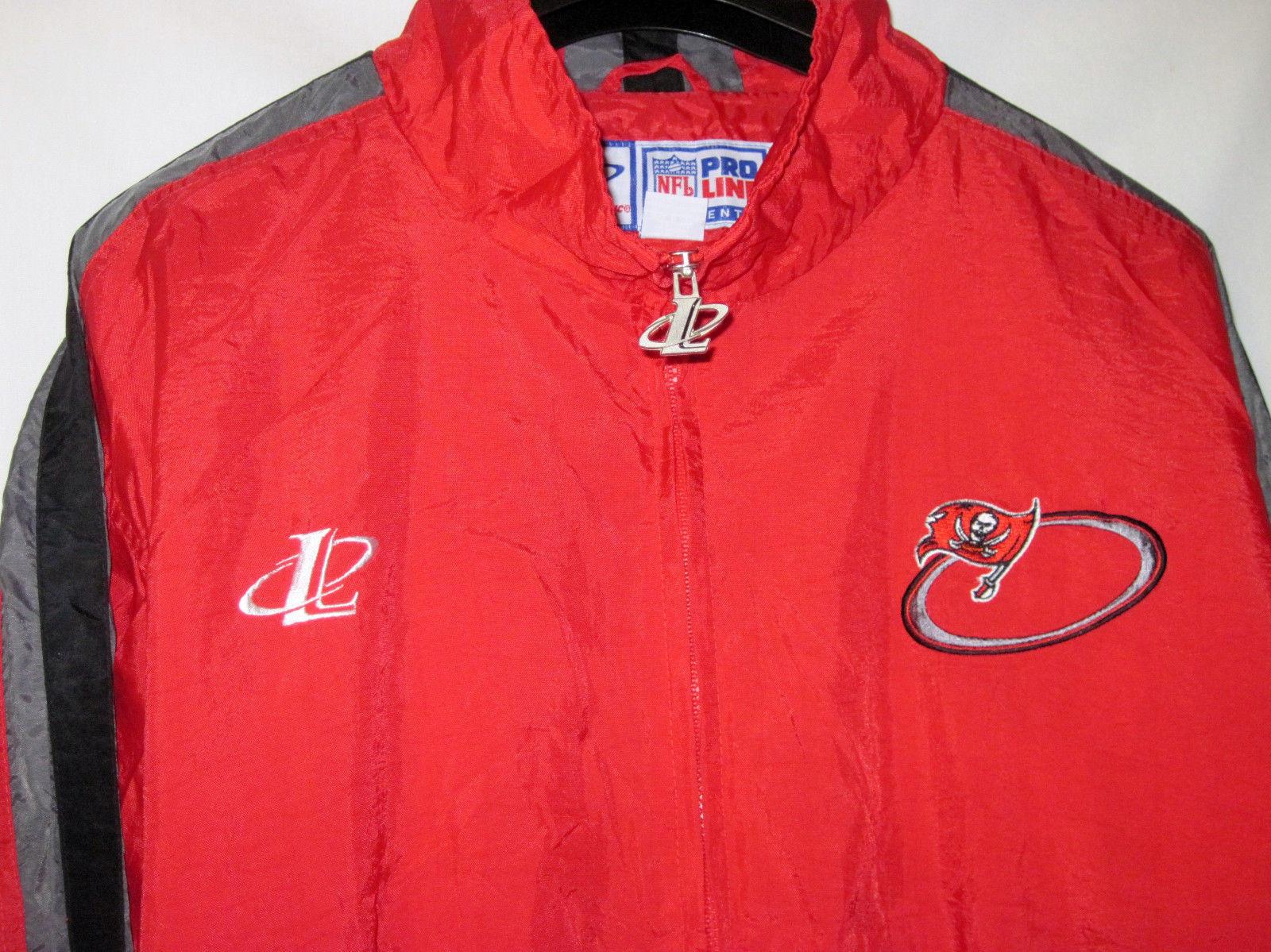 NFL Pro Line Authentic Logo AthleticTampa Bay Buccaneers nylon jacket Zip Up L image 2