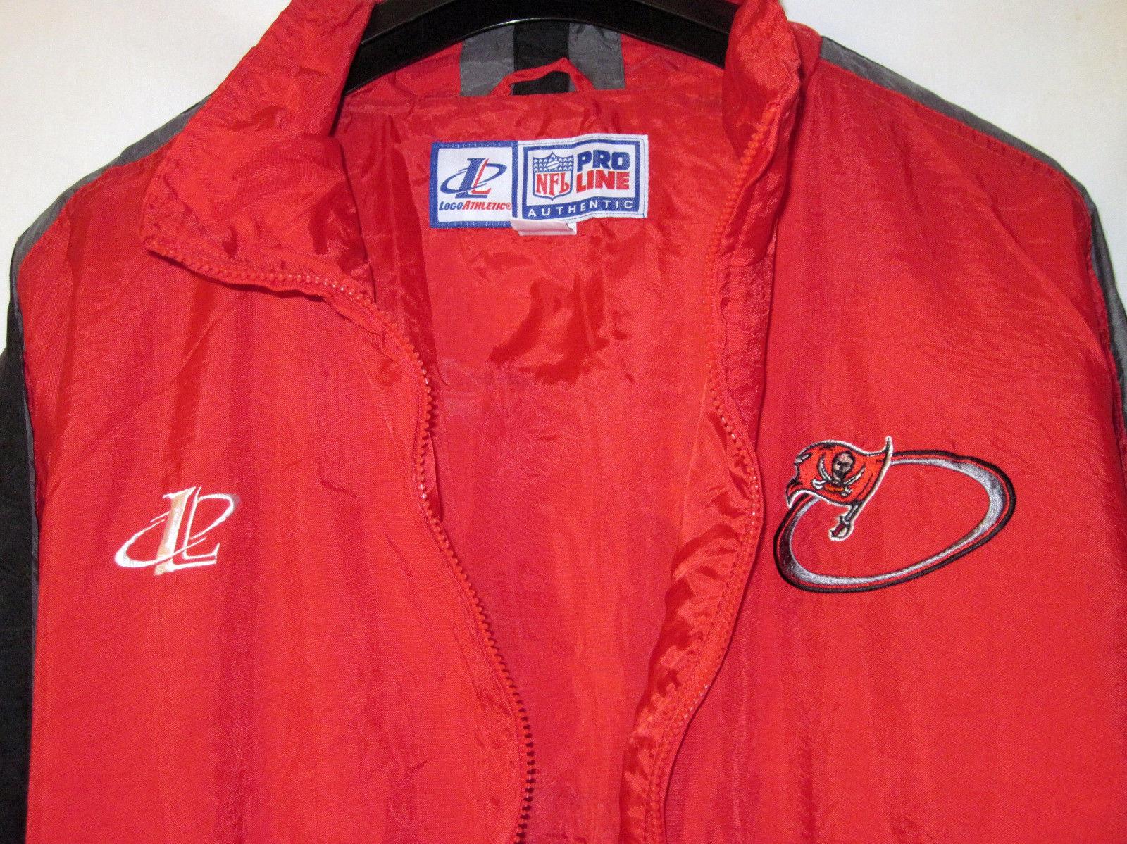 NFL Pro Line Authentic Logo AthleticTampa Bay Buccaneers nylon jacket Zip Up L image 3