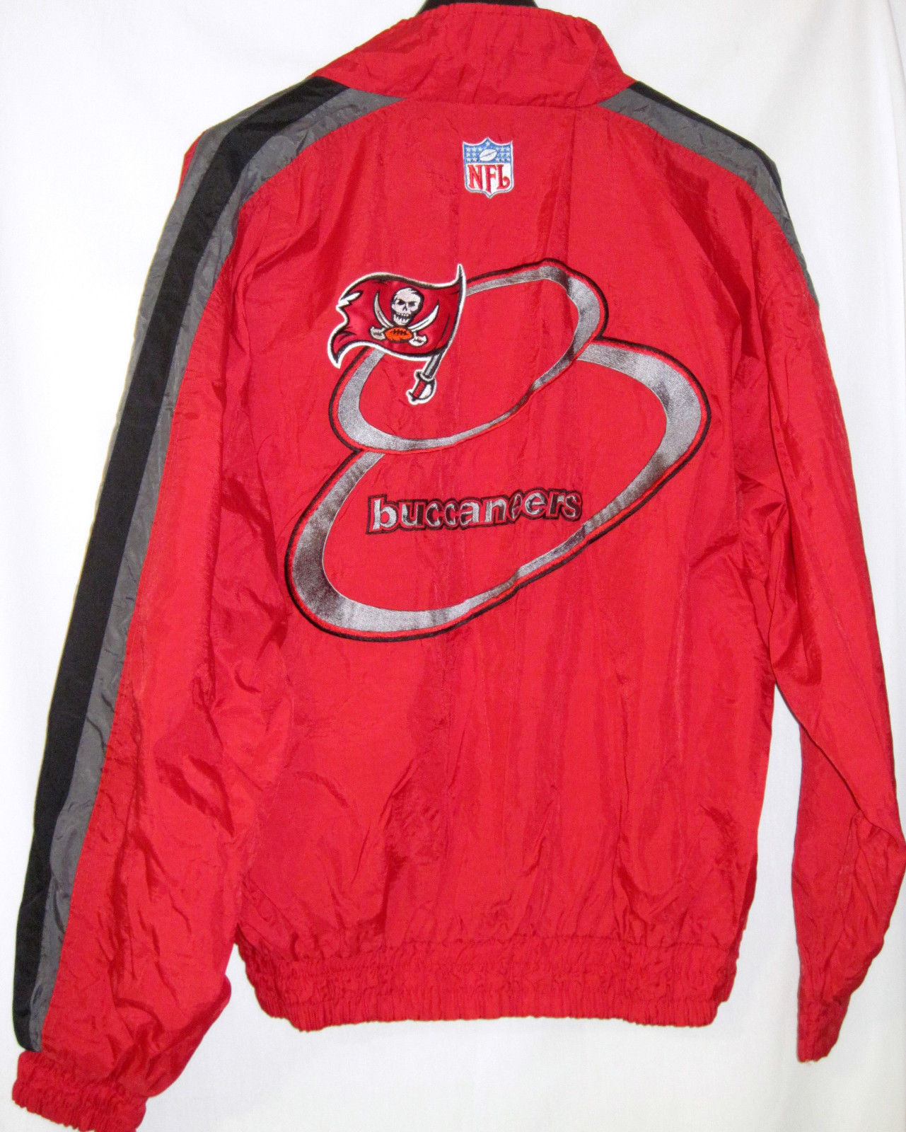 NFL Pro Line Authentic Logo AthleticTampa Bay Buccaneers nylon jacket Zip Up L image 6