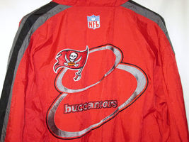NFL Pro Line Authentic Logo AthleticTampa Bay Buccaneers nylon jacket Zip Up L image 7