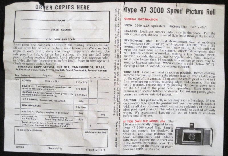 Vintage POLAROID Land Camera Wink Light Model 250 IB image 5