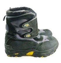 Gap Insulated Boots Unisex Youth Sz 4 Black Leather/ Synthetic (tu38) - $15.90
