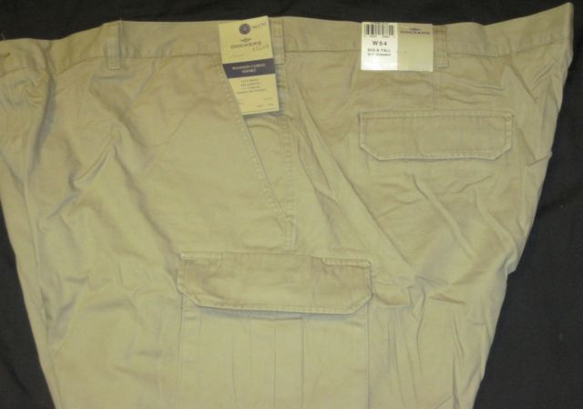 NWT Dockers Big Mens Cargo Shorts Khaki Tan Relaxed Fit Flat Front MP3 Pocket image 2