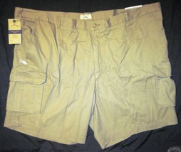 NWT Dockers Big Mens Cargo Shorts Khaki Tan Relaxed Fit Flat Front MP3 Pocket image 3