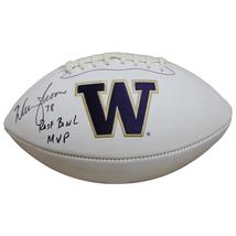 Warren Moon Autographed Washington Huskies Football w/ Inscription JSA COA - $148.49