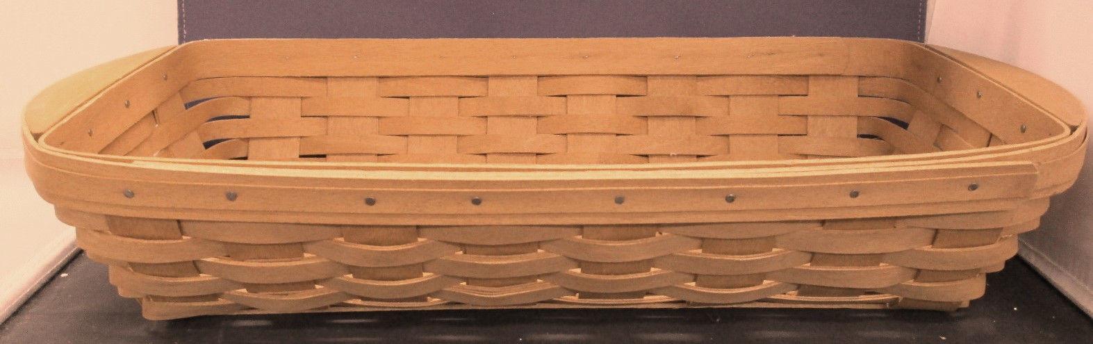 Longaberger Long Serving Basket Toboso Plaid Fall Over Edge Liner New In Bag image 2
