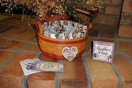 Longaberger Mothers Day Basket of Love Rose Pink Combo W Liner & Prot. New - $39.55