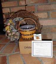 Longaberger 1998 JW Miniature Apple Fruit Basket Combo Complete New In Box - $79.15