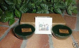 Longaberger Pottery Dessert Bowl Candles Herbal Garden Blue Set of 4 New In Box image 1