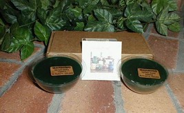 Longaberger Pottery Dessert Bowl Candles Herbal Garden Blue Set of 4 New In Box image 2