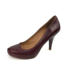 STEVE MADDEN Dark Burgundy Leather Almond Toe Pumps Size 7.5 - €18,32 EUR