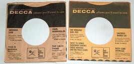 VTG (2) Lot 1960's DECCA Black Polka Dot Vinyl Wax Record Protector Slee... - £5.40 GBP