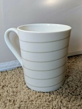 Mikasa Cheers Spiral Coffee Tea Mug Cup White Porcelain 12 oz HK277 - $11.36