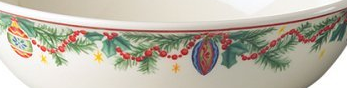 PFALTZGRAFF HOLIDAY GARLAND VEGETABLE BOWL STONEWARE MULTI COLOR NEW IN BOX