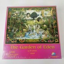 "The Garden Of Eden By Al Lorenz 1000 Piece Jigsaw Puzzle 20""× 27"" SunsOut Sealed - $38.21"