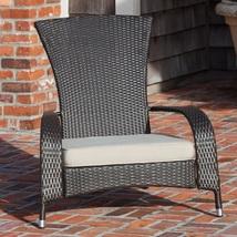Wicker Adirondack Chair Outdoor Resin Porch Patio Garden Furniture Seat ... - $129.58