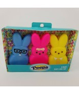 Peeps Bunny Squeaky Vinyl Dog Toy 3 Pack Bunnies have Glasses Neck Tie F... - $16.82