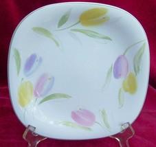 Studio Nova French Tulips CH007 Salad Plates 4 Square Lot - $25.24