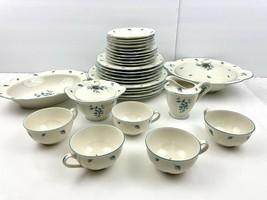 VTG Theodore Haviland New York Birchmere Dinnerware Set China 36 PC Blue... - $186.07
