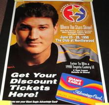 "Mario Lemieux Golf Invitational ORIGINAL 1998 28x40"" Giant Eagle Store P... - $140.24"