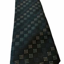 Peebles Executive Collection Tie Blue Geometric Squares Pattern Mens Nec... - $5.53