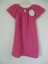Cherokee Girl's Size 24 Months 100% Cotton Solid Pink Short Sleeve Dress - $20.80