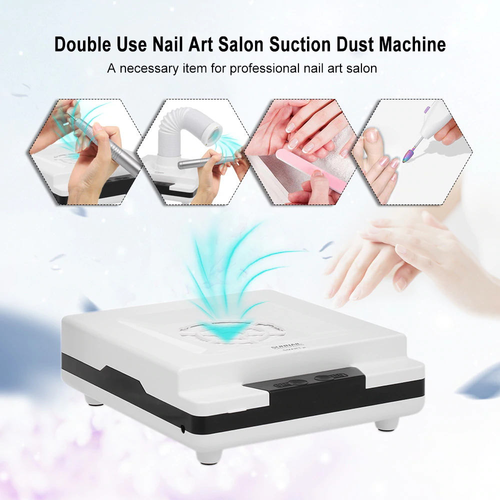 New 80W Salon Suction Dust Collector Vacuum Cleaner Nail Art Manicure Machine US