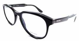 Prada Journal VPR 18S Rx Eyeglasses Frames 53x19x145 Shiny Black + Case ... - $64.51