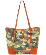 Dooney & Bourke Camouflage Duck Dover Coated Canvas & Leather Tote NWT - $219.00