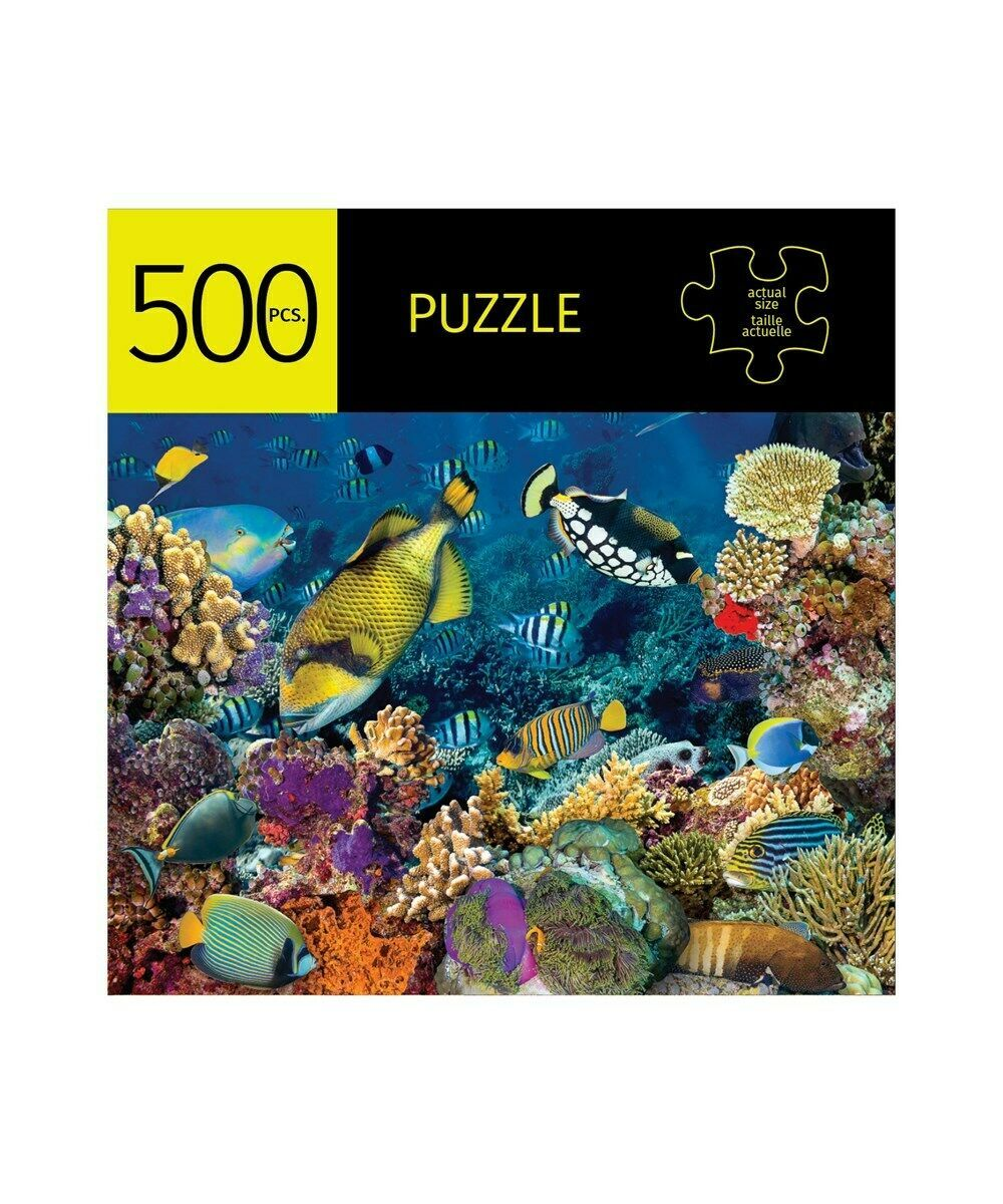 """Coral Reef Jigsaw Puzzle 500 pc 28"""" x 20"""" Durable Fit Pieces Ocean Giftcraft"""