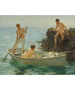 The Bathing Cove Painting by Henry Scott Tuke Art Reproduction - $32.99+