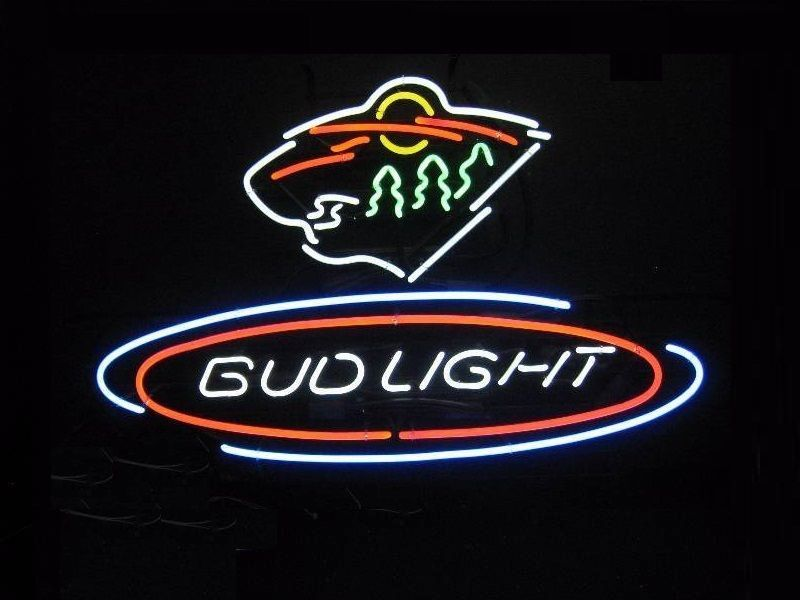 "New Bud Light Minnesota Wild hockey NHL Neon Sign 24""x20"""