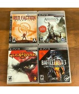 PlayStation PS3 4 Game Lot God Of War Battlefield Red Faction Video Game... - $7.85