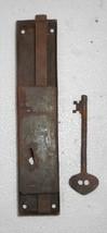 Vintage Big Iron Door Lock & Key Collectible from India Bt156 - $18.98