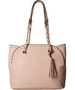 Jessica Simpson Womens Dorota Faux Leather Studded Tote Handbag Pink Medium - $53.18