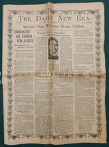 1919 antique WWI lancaster pa REPORTED MILITARY HEROES NEWSPAPER WELCOME... - $68.95