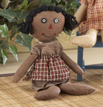 Primitive Decor 41582-Primitive Black Rag Doll - €8,15 EUR
