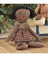 Primitive Decor 41582-Primitive Black Rag Doll - $8.95
